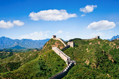 Great Wall of China in summer day, Jinshanling Stock Photos