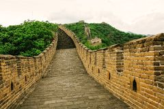 Great Wall of China in Summer. Mutianyu section near Beijing royalty free stock images