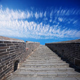 Great Wall of China at Sunny Day Stock Image
