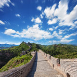 Great Wall of China at Sunny Day Stock Photo