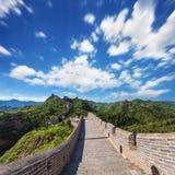 Great Wall of China at Sunny Day Stock Photo