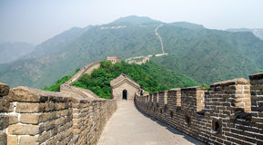 The Great Wall of China on a sunny day Royalty Free Stock Photo