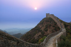 The great wall of china at sunrise Royalty Free Stock Photography