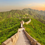 Great Wall of China during sunset Royalty Free Stock Photo