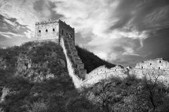 Great wall of China at sunset Stock Photos