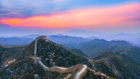 The great wall. Of china in sunset in spring, BeiJing Royalty Free Stock Photography