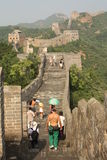 The Great Wall of China with tourists Stock Image