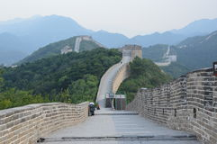Great Wall of China Tower. This beautiful tower is high up the mountain on the Great Wall of China Stock Image