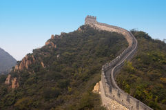 Great Wall of China, Travel Site Near Beijing. Popular tourist destination for people on vacation or holiday in the orient or far east, the Great Wall of China Royalty Free Stock Image