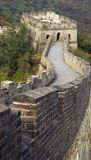 The great wall of China with turret Stock Image
