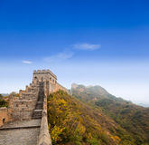 The great wall of china under the blue sky Stock Photo