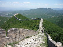 Great Wall of China. An unkept part of the Great Wall of China stock image