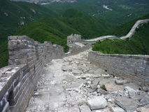 Great Wall of China. An unkept part of the Great Wall of China stock images