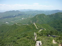 Great Wall of China. An unkept part of the Great Wall of China stock photo