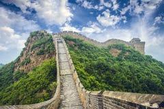 Great Wall of China. Unrestored sections at Jinshanling