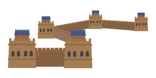 Great Wall, China. Vector Illustration. Great Wall, China. Isolated on white background vector illustration royalty free illustration