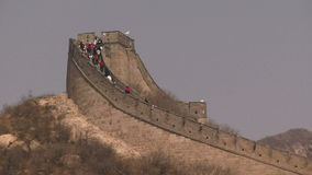 Great Wall of China shot showing how steep it is stock footage