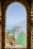 Great Wall of China. Viewed from within a lookout tower Stock Photo