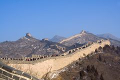 Great Wall of China in winter Royalty Free Stock Images