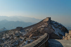 Great Wall of China in winter Stock Images