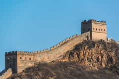 Great wall of china in winter Royalty Free Stock Photos