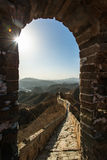 Great wall of china in winter Stock Image