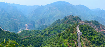 The Great Wall of China (Yellow Cliff). Royalty Free Stock Image