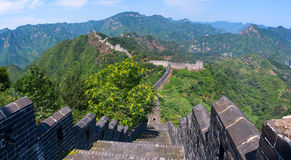 The Great Wall of China (Yellow Cliff). Royalty Free Stock Photo