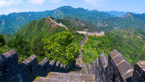The Great Wall of China Yellow Cliff. Stock Photography