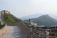 The Great Wall of Cina. Great Wall of China mountain view royalty free stock photos