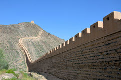Great Wall On The Cliff. In Jiayuguan city,China Royalty Free Stock Images