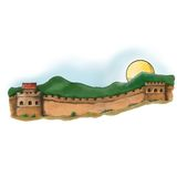 Great Wall in the countryside Stock Photos