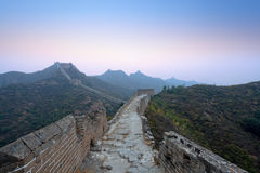 The great wall  in dawn Royalty Free Stock Photography