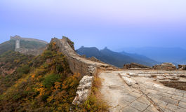 The great wall in dawn Stock Image