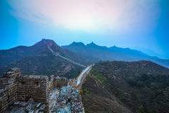 The great wall in daybreak Royalty Free Stock Photos