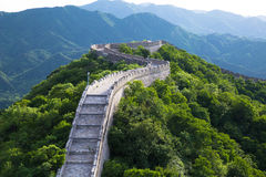 Great wall detail. The ancient great wall on the mountain royalty free stock photos