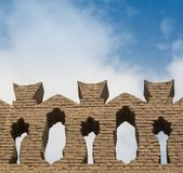 The great wall details royalty free stock photo