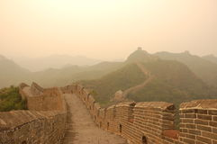 The Great Wall at dusk. The GreatWall at dusk, area of Jinshanling Stock Photo