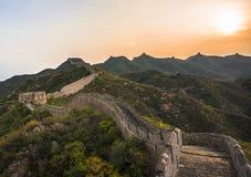 Great Wall at dusk Royalty Free Stock Image