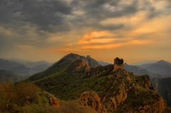 Great wall in the evening Stock Images