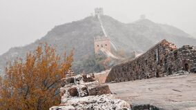 The great wall fading away in the fog!