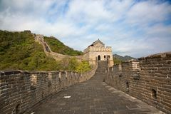 Great Wall. Famous Great Wall of China, section Mutianyu, located nearby Beijing city Royalty Free Stock Photo