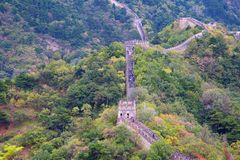 Great Wall. Famous Great Wall of China, section Mutianyu, located nearby Beijing city Stock Photography