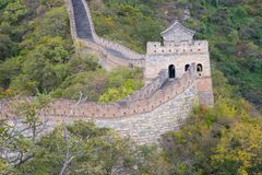 Great Wall. Famous Great Wall of China, section Mutianyu, located nearby Beijing city Royalty Free Stock Photography
