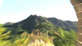 The Great Wall fast zoom out stock footage