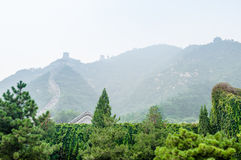 The Great Wall in Fog. In China in China Royalty Free Stock Photography