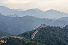 Great Wall in fog, Beijing , China Royalty Free Stock Photography