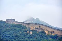 Great Wall in fog, Beijing , China Royalty Free Stock Image