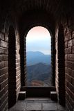 Great wall gate. It's a gate on the badaling Great Wall, and look from it Stock Photography
