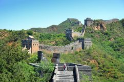 Great Wall. In China royalty free stock image